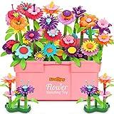 Fivejoy 134PCS Juguetes de Construcción para Jardín de Flores, Jardín Flores Playset Regalos, Juguetes de Construcción de Jardín Pretender Cumpleaños Regalos Juguetes para Niñas y Niños de 3-6 añ