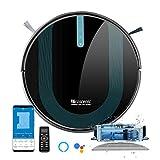 proscenic 850T Robot Aspirador y Fregasuelos, 3000Pa, Compatible con Alexa & Google Home, Muro Magnético, Depósito y Tanque 2 en 1 para Aspira, Barre, Friega y Pasa la Mopa, Azul Oscu
