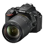 Nikon D5600 - Cámara réflex de 24.2 MP (pantalla táctil de 3', Full HD) negro - kit con objetivo AF-S DX 18 - 140 mm VR, versión europ