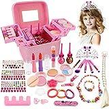 balnore Juguete de Maquillaje para niños, 34 Piezas Kit de Juguete de Maquillaje, Cosméticos Belleza Juguetes Juego de Maquillaje Lavable para Niñ